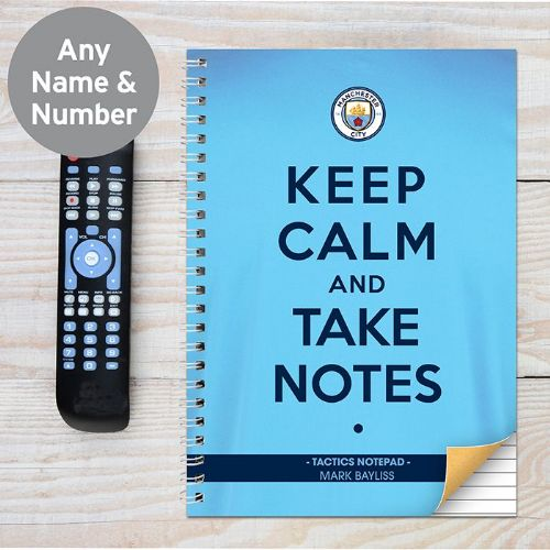 Manchester City Keep Calm A4 Notebook